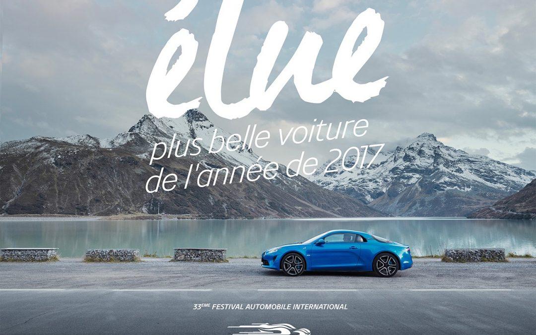 ALPINE A 110 ÉLUE PLUS BELLE VOITURE DE L'ANNÉE 2017